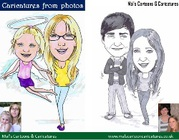 Caricatures from photos online