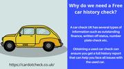 3 Reasons to get a free car history check
